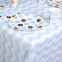 Pattern Works Blue Chevron Table Cloth